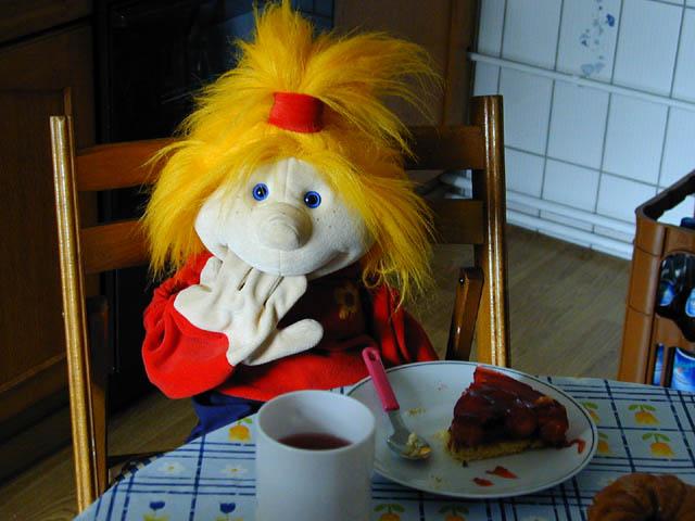 Jule beim Frühstück