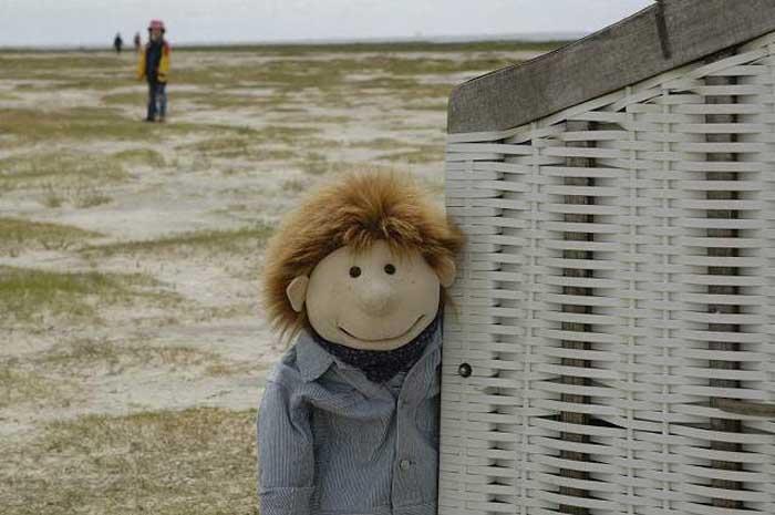 Lukas am Strand