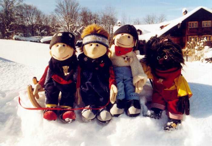 Freunde im Schnee