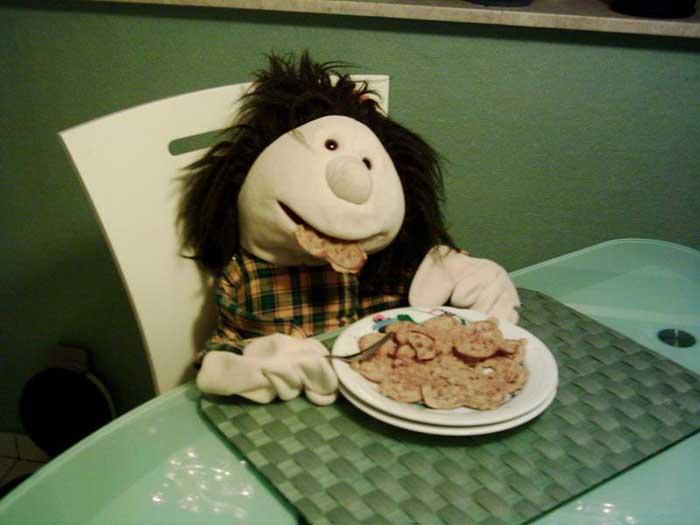 Sally beim Essen