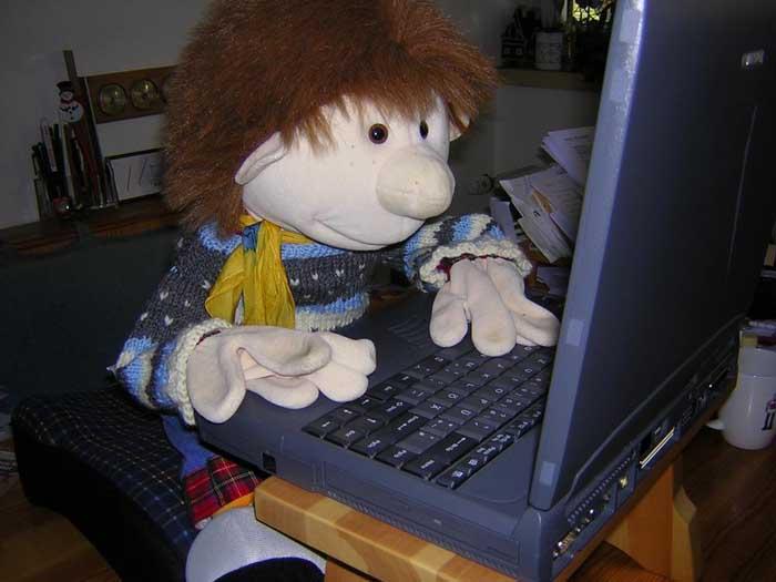 Willi am Laptop