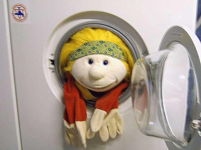 Jule in der Waschmaschine