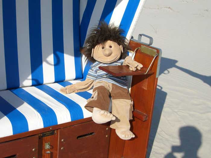 Marvin im Strandkorb
