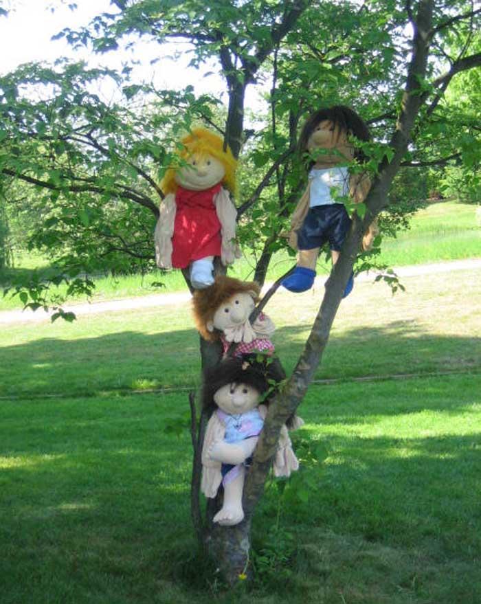 Fridolin und Freunde aufm Baum