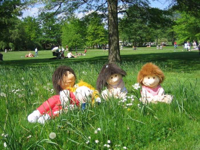 Fridolin und Freunde in der Wiese