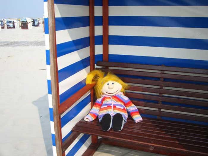 Jana am Strand