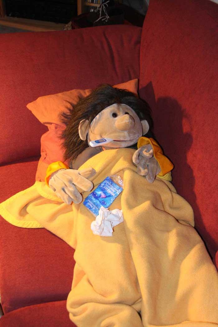 Marvins geht ins Bett