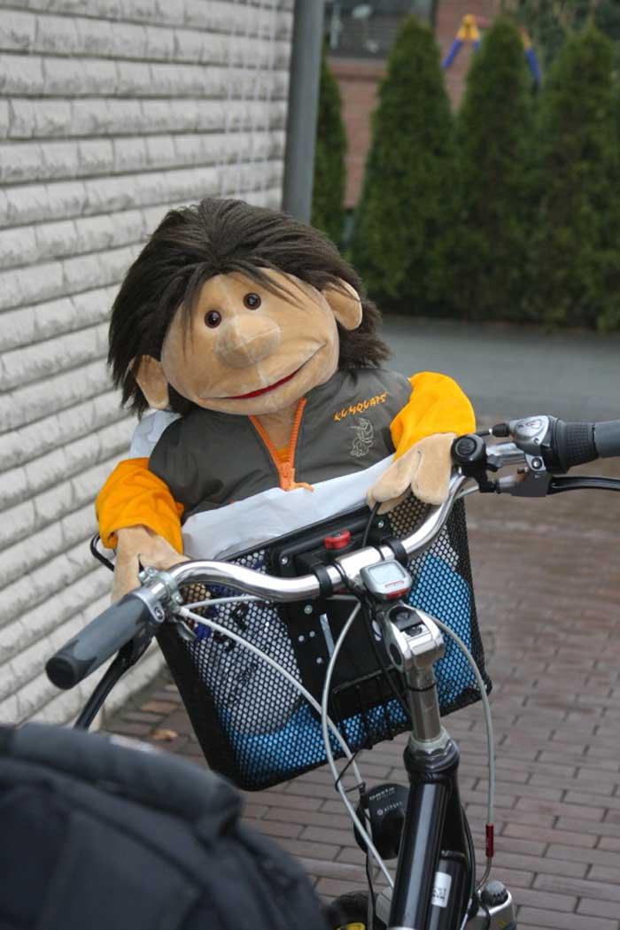 Marvin mit Fahrrad